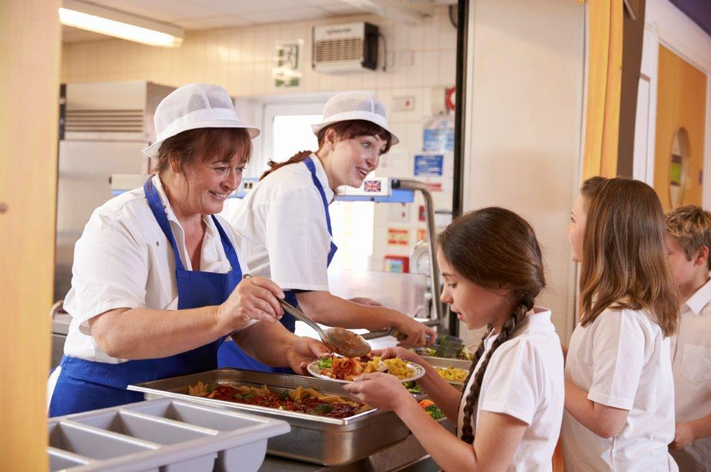 School catering staff
