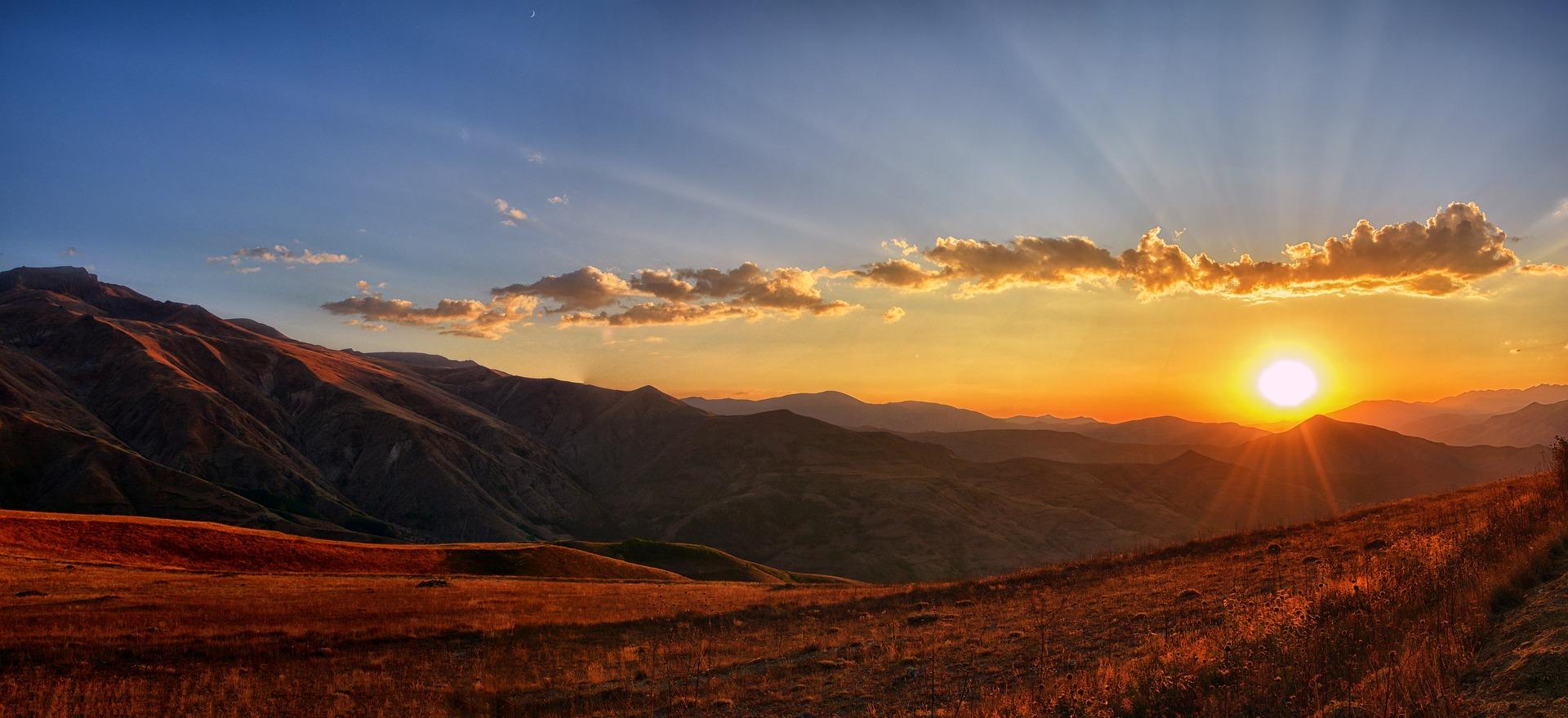 Panoramic sunrise
